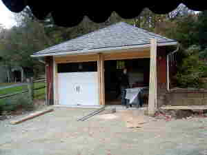 garage doors during