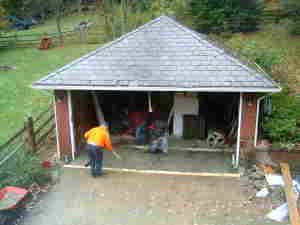 garage floorduring